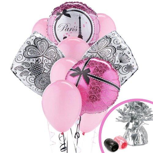 Paris Eiffel Tower Damask Party Supplies - Balloon Bouquet