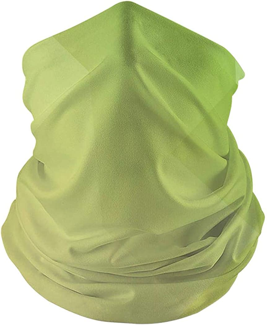 Sports Festivals Balaclava for Dust Wind Sun Protection Kicher Green Geometric Pattern Seamless Face Mask Bandanas for Dust Outdoors