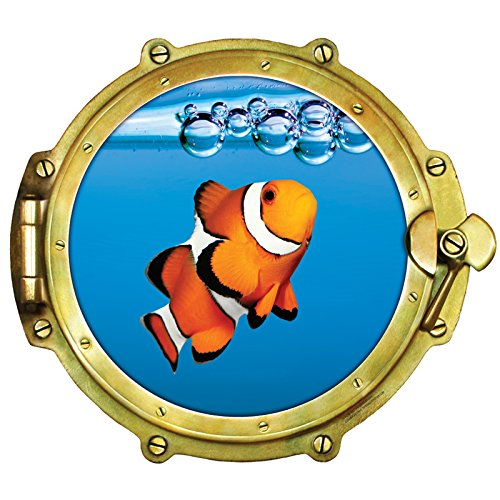 Walls 360 Peel & Stick Wall Decals: Window Views Clownfish (12 in x 10.75 in)