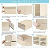 ZODDLE Foldable Stackable Shoe Storage Boxes