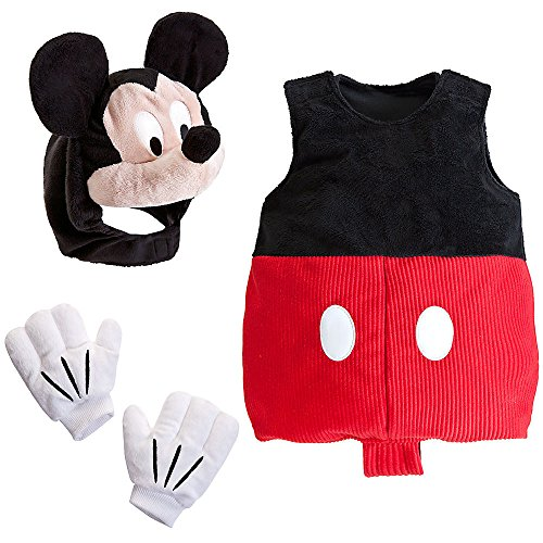 Disney Store Deluxe Mickey Mouse Plush Costume for Baby Size 18 - 24 Months 2T -