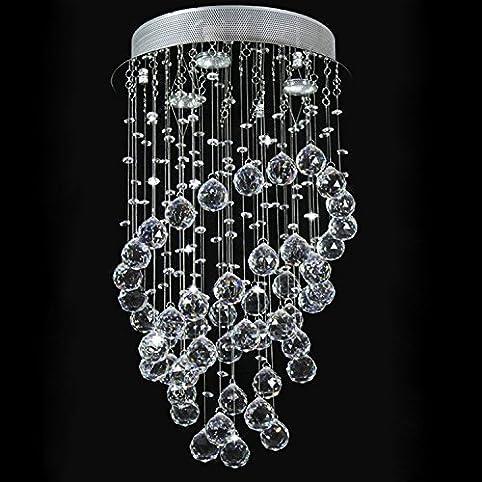 Glighone LED Kristall Deckenleuchte Pendelleuchte Kronleuchter Hängend  Modern Kristallleuchter Mit 3 Leuchten Für Küche, Flur