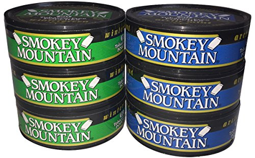 Smokey Mountain Snuff - 6 Can Sampler Pack (Arctic Mint Pouches + Wintergreen Pouches)