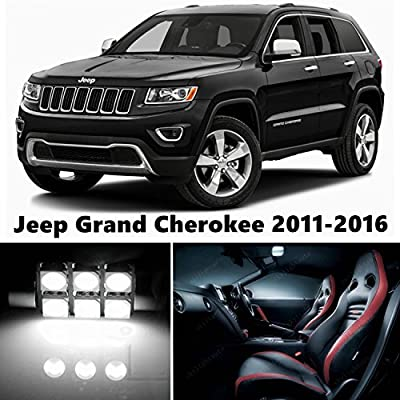 16pcs LED Premium Xenon White Light Interior Package Deal for Jeep Grand Cherokee 2011-2015: Automotive