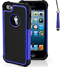 Case for Apple iPhone SE Shockproof Phone Cover with Screen Protector / iCHOOSE / Blue