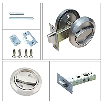 Silver-26mm File Cabinet Drawer Cupboard Closet Lock No Keys Handy