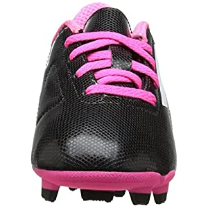 adidas Performance Conquisto Firm-Ground J Soccer Cleat ,Black/White/Solar Pink,5 M US Big Kid