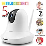 Wifi Baby Monitor Camera Audio 1080p Wireless, Two Way Audio Pet Cameras Security System Surveillance HD Home Indoor for Infant Nanny Pet Garage Elder with Motion Detection Night Vision, Pan Tilt Zoom