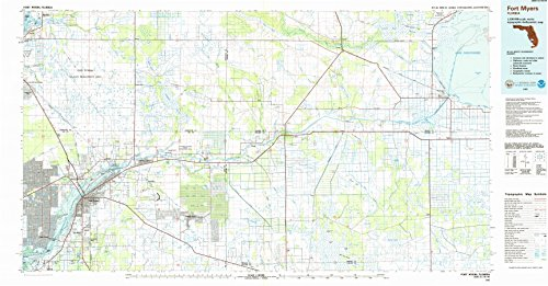 Fort Myers FL topo map, 1:100000 scale, 30 X 60 Minute, Historical, 1985, updated 1986, 24.1 x 46 IN - - Lakes North Myers