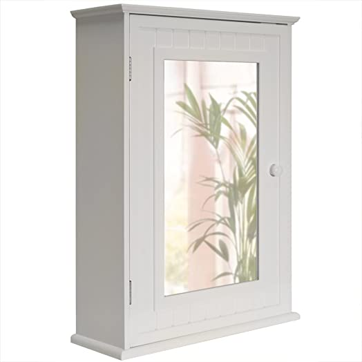 tallula mirror door bathroom wall storage cabinet white