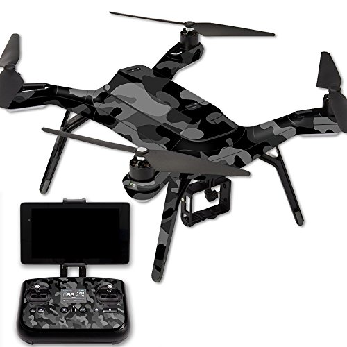 MightySkins Protective Vinyl Skin Decal for 3DR Solo Drone Quadcopter wrap Cover Sticker Skins Black Camo