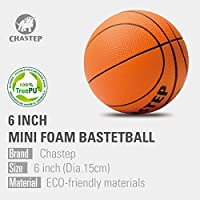 Chastep Pro Mini Basketball Safe to Play Non-Toxic 6 Inch Foam Ball Soft and Bouncy
