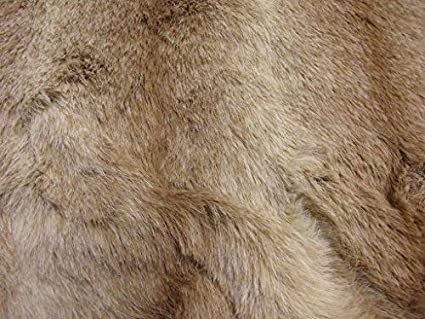 LUXURY Animal Faux Fur Fabric Material BROWN OMBRE  Amazon.co.uk  Kitchen    Home 4b695571e