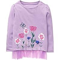 Gymboree Toddler Girls' Ruffle Bottom Long Sleeve Graphic Tee