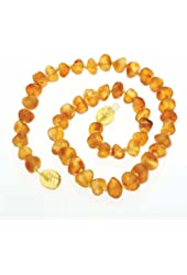 Raw Amber Teething Necklace 100% Certified Genuine Baltic Amber Beads for Teethers
