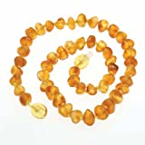 Raw Healing Amber Teething Baby Necklace 100% Certified Genuine Baltic Sea Amber Beads for Teethers