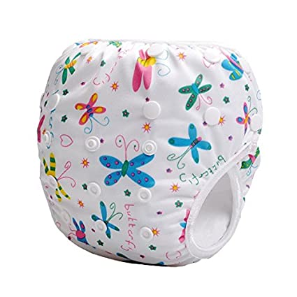 Storeofbaby Baby Swim Diapers Reusable Adjustable Cute Print Infant 0 3 Years swimpant7_ca