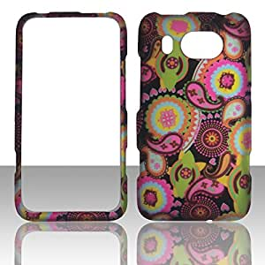 2D Multi Pasley HTC Titan II 2 AT&T Case Cover Hard Phone Case Snap-on Cover Rubberized Touch Faceplates