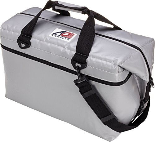ao coolers vinyl soft cooler with highdensity insulation silver 48can - Soft Sided Coolers