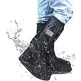 Frelaxy Waterproof Rain Boot Shoe Cover Overshoes Galoshes S-XXL, Foldable Rain Boots with Reflector, Durable & Rainproof & Anti-Slip Rain Snow Gear For Cycling Motorcycle Fishing Men Women Kids (1 Pa