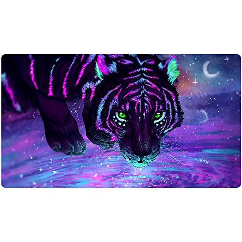 Beymemat Large Gaming Mouse Pad XXL Size (900x400mm) Extended Mouse Mat/Desk Pad with Non-Slip Rubber Base, Special-Textured Surface for Keyboard and Mouse (90x40 laohu003)