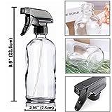 Glass Spray Bottle, Niuta 16 OZ Clear Glass Empty