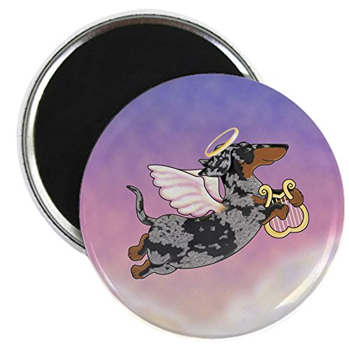 CafePress - Silver Dapple Dachshund Angel Magnet - 2.25