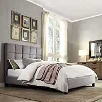 Home Creek Amara Linen Upholstered Bed