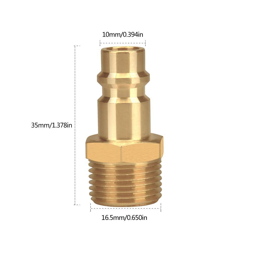 DN6 Conectores de l/ínea de aire Euro Airline para compresor de manguera de 1//4 1//2 dorado DN9 DN13 acoplador de aire y kit de acoplamientos macho 3//8 BSP