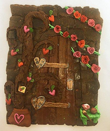 Valentine's Day Garden Fairy Door Secret Polymer Clay Pixie Portal Tree Decorations Magical Sprites Gnomes Elves Leprechauns