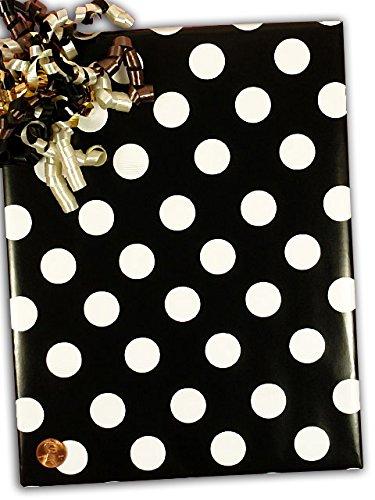 Black Domino Dots Gift Wrap 24