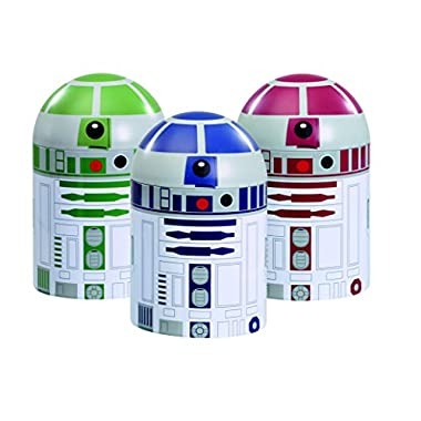 Underground Toys Star Wars Home Kitchen Storage Set Droid Toy (3 Pack)