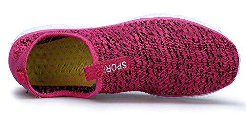 Aquaschuhe Schnell Trocknend on Schuhe Atmungsaktiv Pink Slip XKMON Strandschuhe Schwimmschuhe Damen Wasserschuhe 5wxwq1R