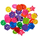 ROYLCO R2132 Bright Buttons, Assorted Sizes, Shapes and Colors, 1-Pound