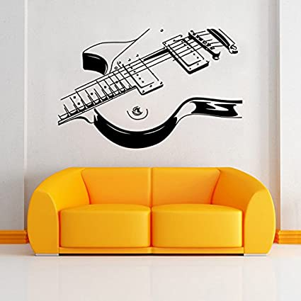 Aiwall 9321 Art Guitar Wall Stickers Diy Home Decorations Music Wall Decals Living Room