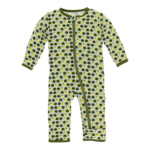 Kickee Pants Little Boys Print Coverall with Zipper - Aloe Tomatoes, 18-24 ()