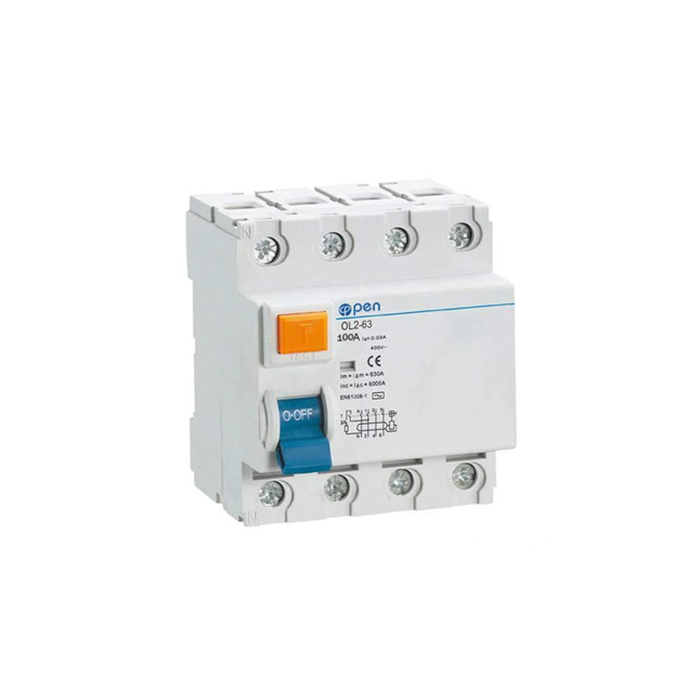 4 P 25A / 40A / 63A / 100A Type Disjoncteurs courant Courant ré siduel RCCB sé rie OL2-63 pour surcharge et court-circuit (30mA, 63A) WEBN