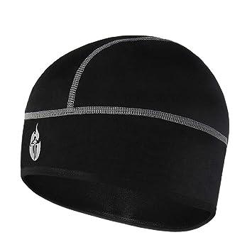 390d66de858 WOSAWE Skull Cap Men Women Bike Under Helmet Thermal Fleece Hat for Winter Running  Cycling Motorcycle