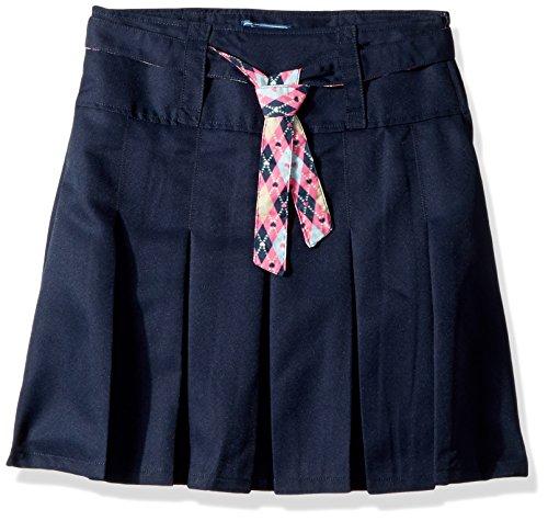 CHEROKEE Big Girls' Uniform Skirt with Hidden Short, Navy Cheerleader, 10