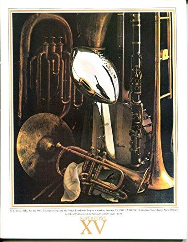 Superdome Sports - Super Bowl XV 15 Program 1/25/1981 Raiders (27) Eagles (10) Superdome NMT 26295
