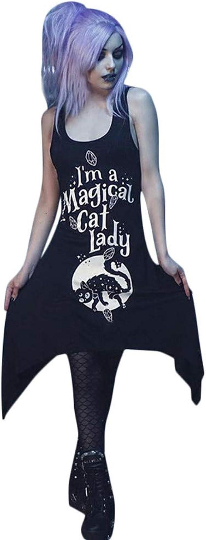 Vestidos de Mini Falda Estampada, Moda Letra Impreso Mini Negro ...