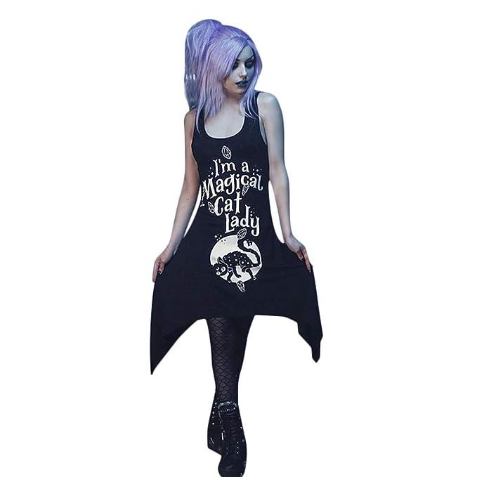 Vestidos de Mini Falda Estampada, Moda Letra Impreso Mini ...