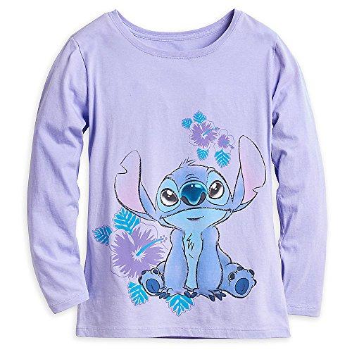 Womens Long Sleeve Stitch - Disney Stitch Long Sleeve T-Shirt For Women Size Ladies XS Purple
