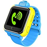 3 G Smart watch GPS Tracker kids Watch SOS WIFI GSM Mobile Phone App For IOS & Android Smartwatch Wristband (Blue)