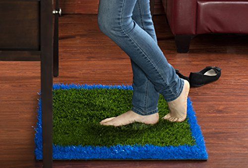 Serenity Small Rug (Anti-Fatigue Rug & Comfort Mat - For Home Or Office Standing Desk – Relaxes and Soothes Feet (Blue-Green))