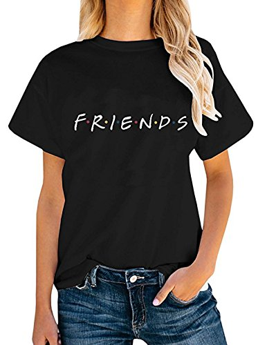 Friends TV Show Shirt Summer Graphic Tees Tops Black S