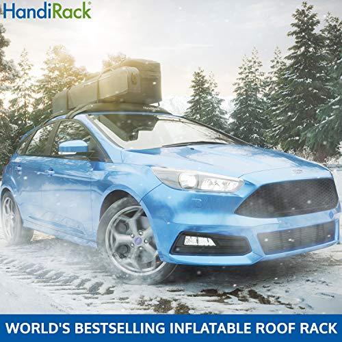 HandiRack - Barras de baca universales e inflables (negras) - Transporte de carga para techo - Se adapta a la mayoría de coches