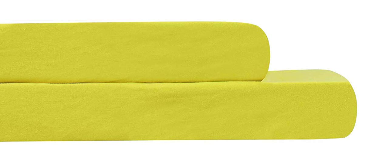 Amazon.com: AURAA Baby Fitted Crib Sheets Set, 2 Pack Crib Mattress Topper for Baby Boys Girls,Ultra Soft, Full Standard (Yellow): Home & Kitchen