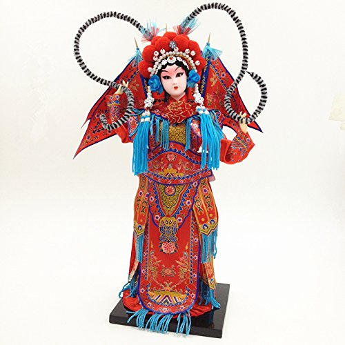 NW Chinese Traditional Handicraft Silk Figurine Collectible Chinese Doll Silk Doll (1800-Red)