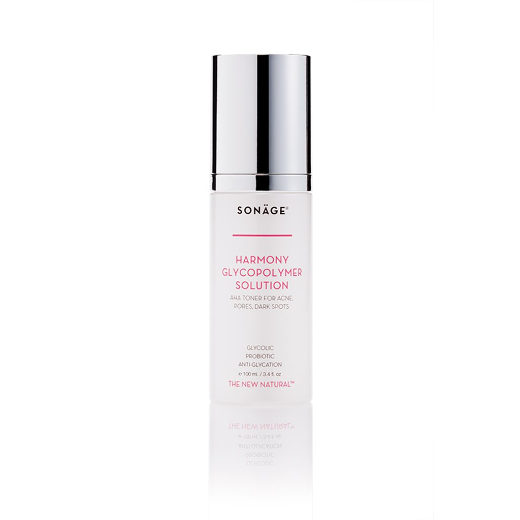Sonage Harmony Glycopolymer Solution - Safe Natural Aha Exfoliant with Glycolic Acid, Lavender Oil - Professional Grade Chemical Face Peel for Acne Scars, Collagen Boost, Wrinkles, Fine Lines